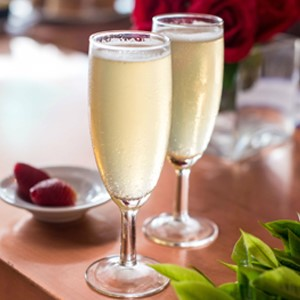 thé blanc champagne